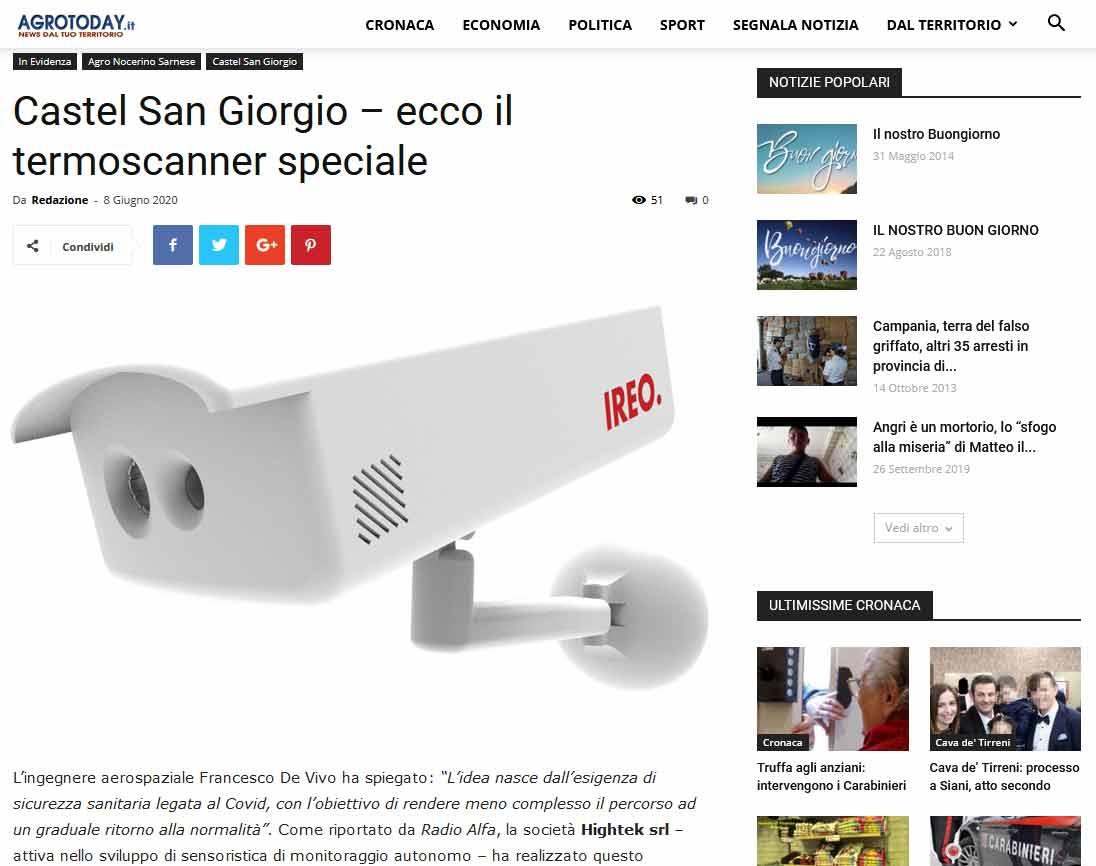 Castel San Giorgio – ecco il termoscanner speciale